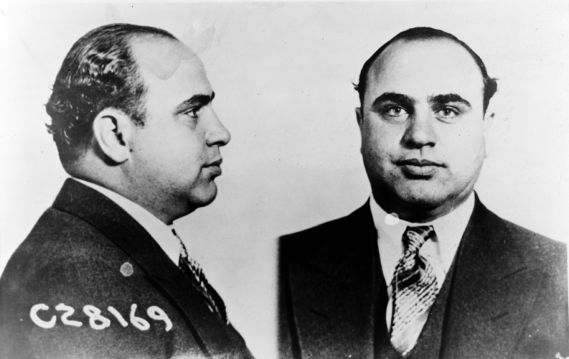 Al Capone mug shot_US DoJ_tax evasion arrest
