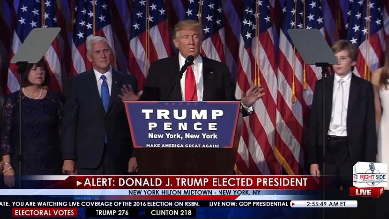 Trump victory speech Nov 9 2016