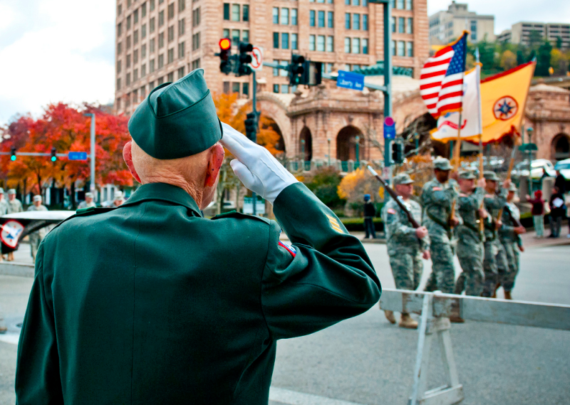 A veteran's salute_Veterans Day parade Pittsburgh PA 11112011_US Army photo
