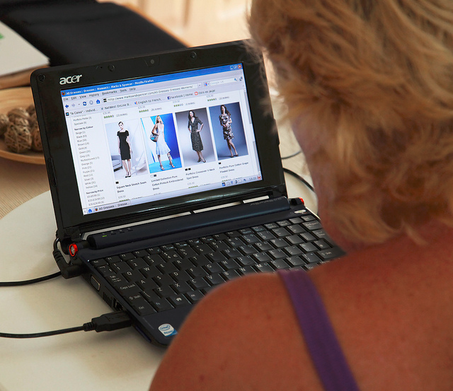 Woman shopping online photo by Keith Williamson via Flickr Creative Commons