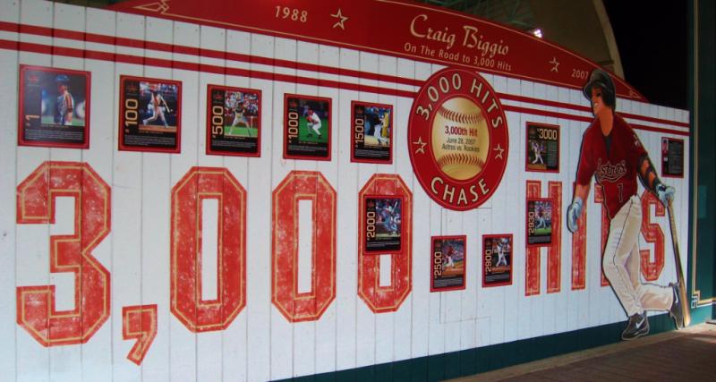 Craig Biggio wall Houston Astros Minute Maid Park_photo by Kay Bell