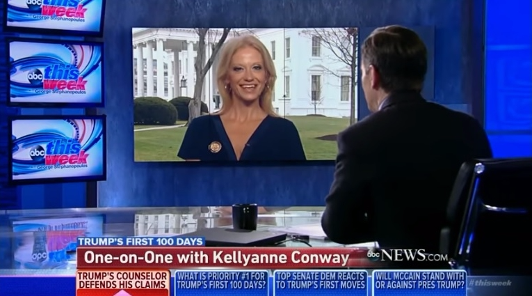 Kellyanne Conway says on This Week Trump will not share his tax returns with the public