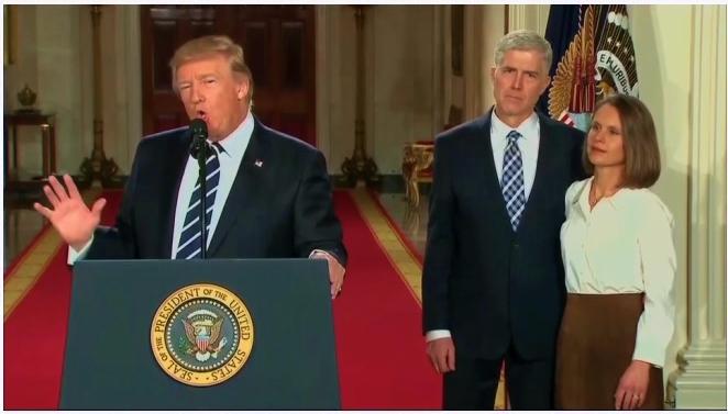 Trump nominates Gorsuch to SCOTUS 013117