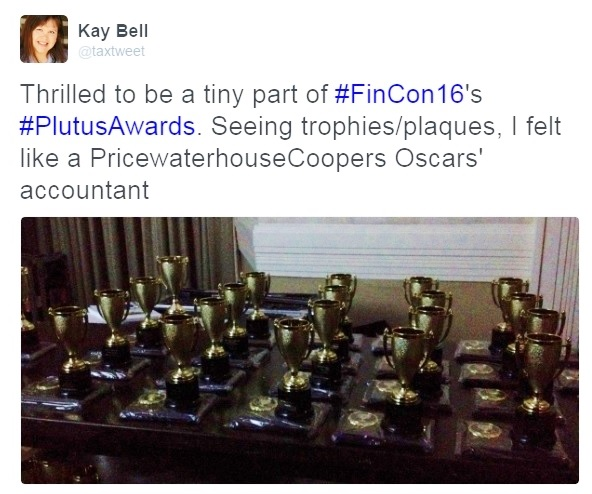 Plutus trophies backstage FinCon16_PwC analogy cropped