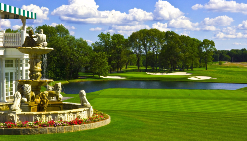 A view of the golf course at Trump Bedminster via at-Trump_Trump Organization via Twitter