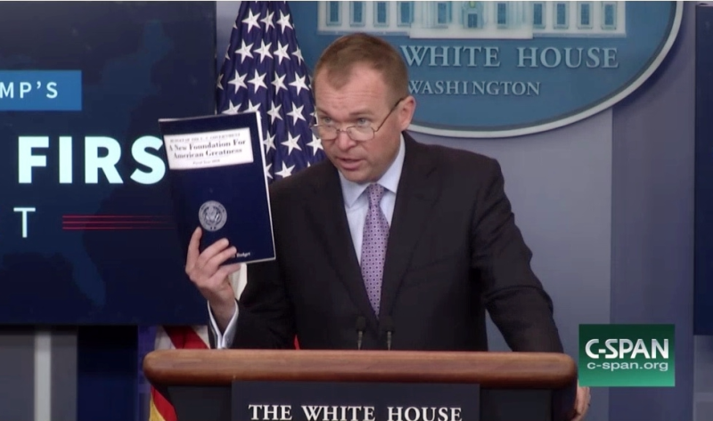 OMB Director Mick Mulvaney discusses Trump Administration FY18 budget request_screenshot1 of C-SPAN broadcast 052317