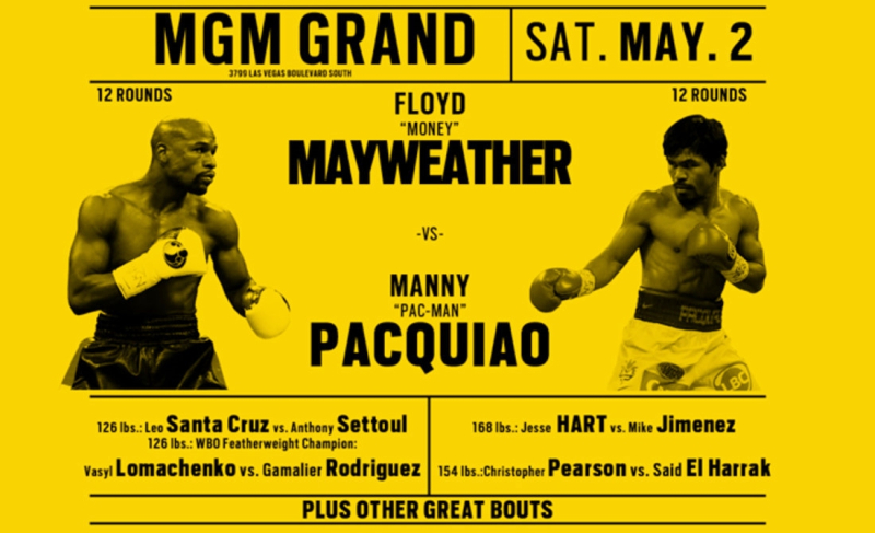 Mayweather-Pacquiao fight card announcement May 2 2015