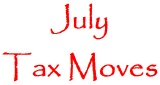 July tax moves icon