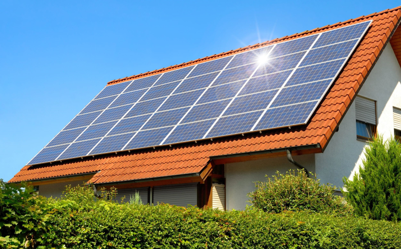 Rooftop-solar-panel-system