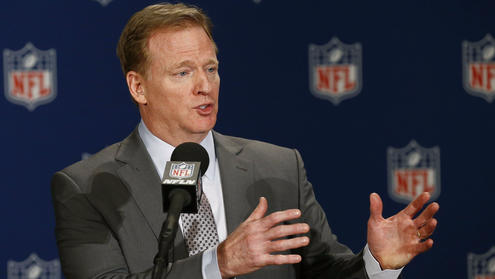 Roger Goodell NFL commissioner address the media