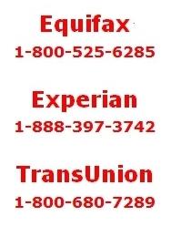 Credit bureau phone contacts