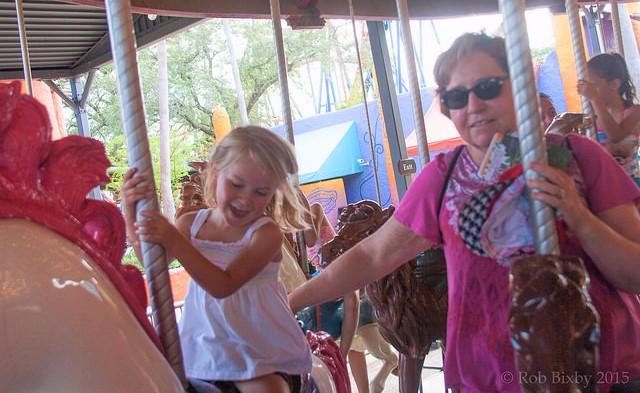 Grandma and granddaughter enjoying the ride_Rob Bixby via Flickr CC