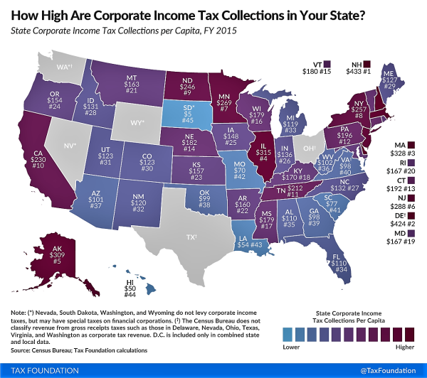 Washington State Sales Tax 2017 >> Corporate tax contributions to the states - Don't Mess ...