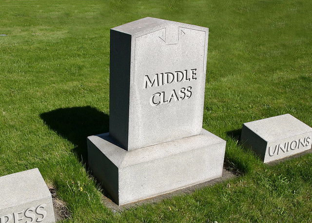 Middle class is dead_donkeyhotey flickr CC