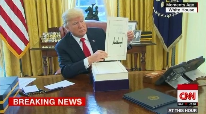 Trump signs tax bill into law 122217_CNN screenshot