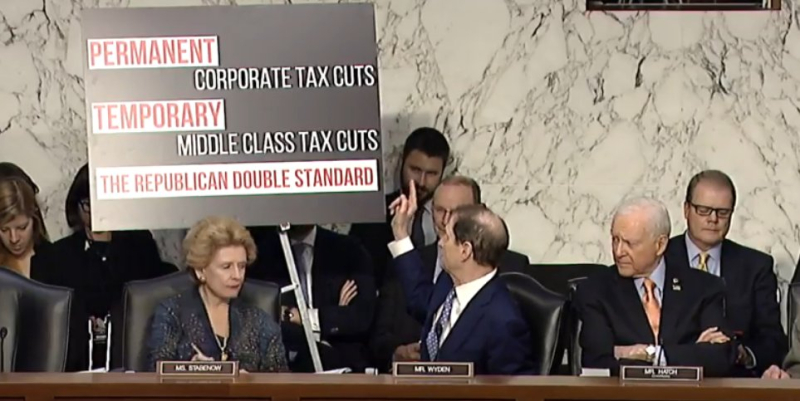 Individual vs corporate tax status in Senate reform bill_Wyden post