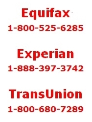Credit bureau contact info
