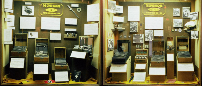 Enigmas machines at US National Cryptologic Museum_Robert Malmgren-GDFL-Wikipedia