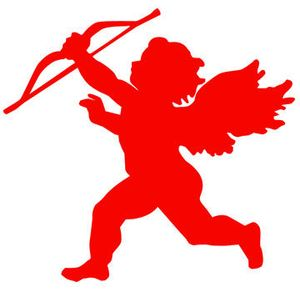 Cupid Valentines Day cutout
