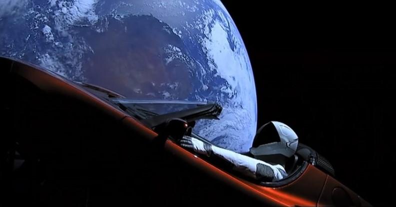 Starman in Tesla in Space still image