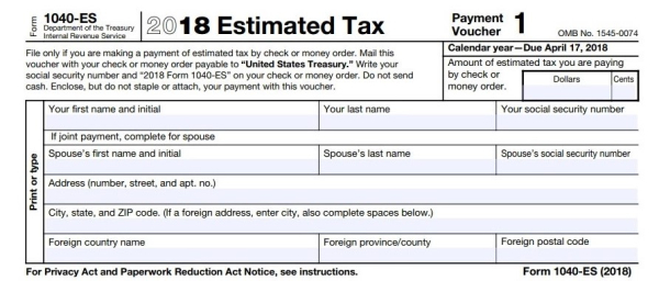 Revised 1040 Es Takes New 2018 Tax Law Into Account Dont Mess