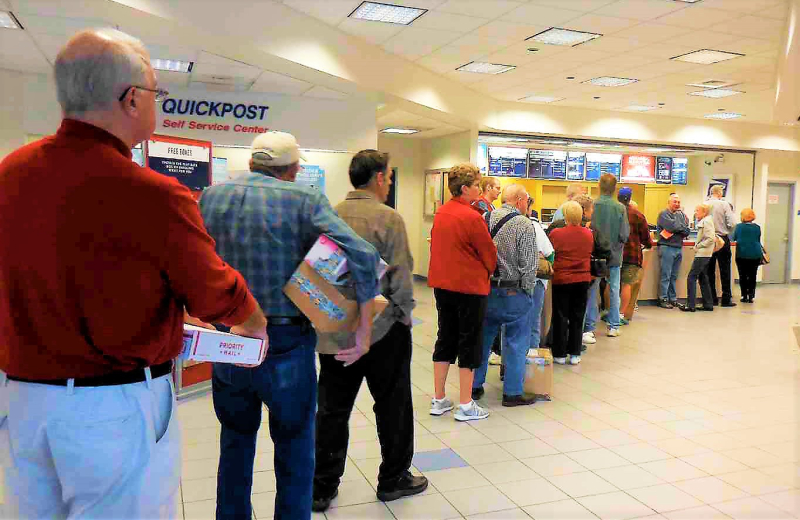 Crowded post office