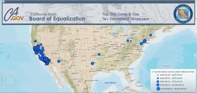 California tax delinquents September 2014