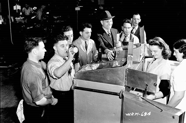 Lunch in 1941 at the John Inglis Co. Bren gun plant_National Film Board of Canada via Flickr