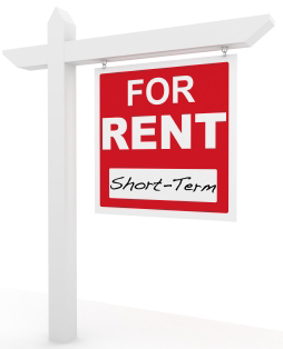 Short term for rent sign