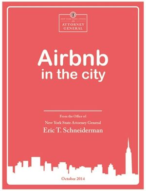 Airbnb in the City_New York Attorney General report October 2014