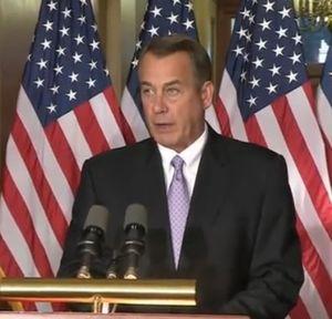 Rep John Boehner House Speaker public remarks