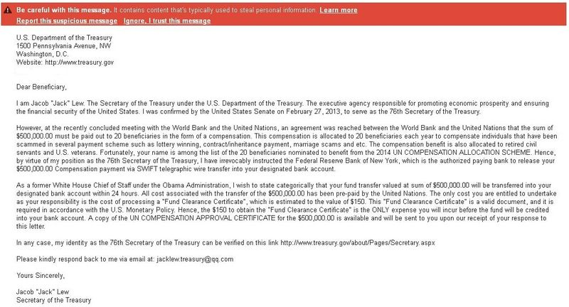 USTreasury-JackLew_scam-email