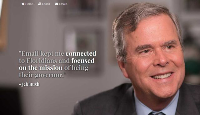 Jeb Bush emails website home page screenshot 021015