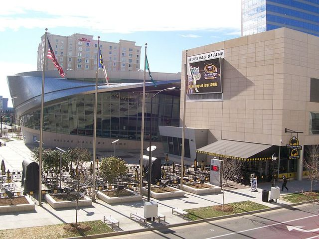 NASCAR Hall of Fame Charlotte NC by Groupuscule  via Wikimedia