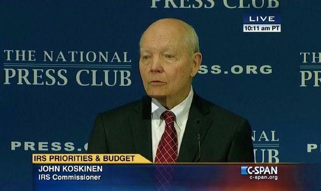 IRS Commissioner John Koskinen speaks at National Press Club 033115