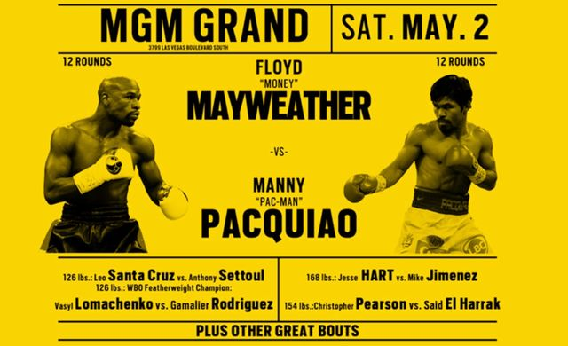 Floyd mayweather vs manny pacquiao fight card announcement