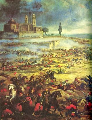 Charge of the Mexican Cavalry against the French at Battle of Puebla May 5 1862 via Mike Manning_Wikimedia