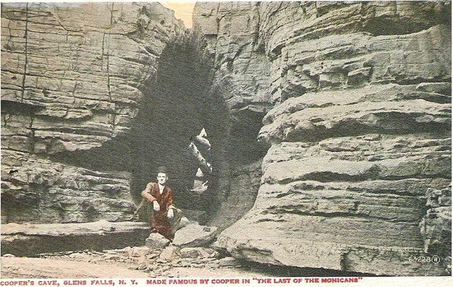 Coopers Cave on vintage postcard via Delcampe