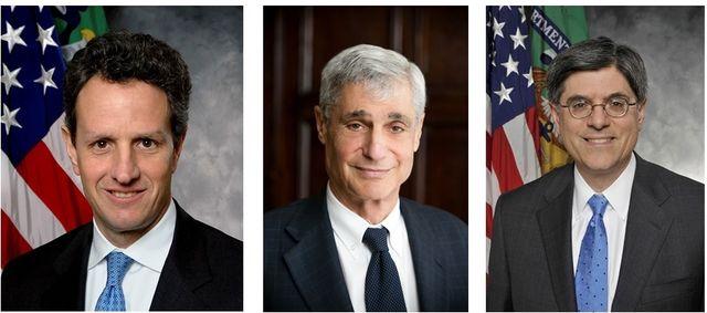 Treasury Secretaries Geithner Rubin and Lew