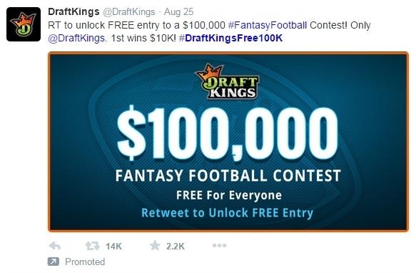 Draft Kings Twitter plug