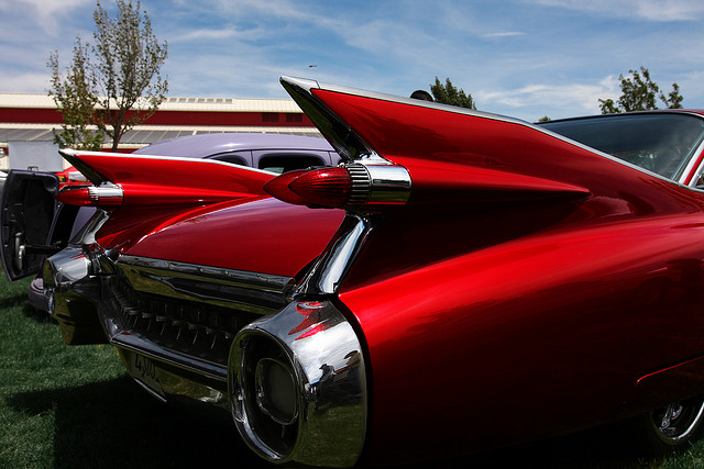 1959 Cadillac tailfins by Rennett Stowe via Flickr