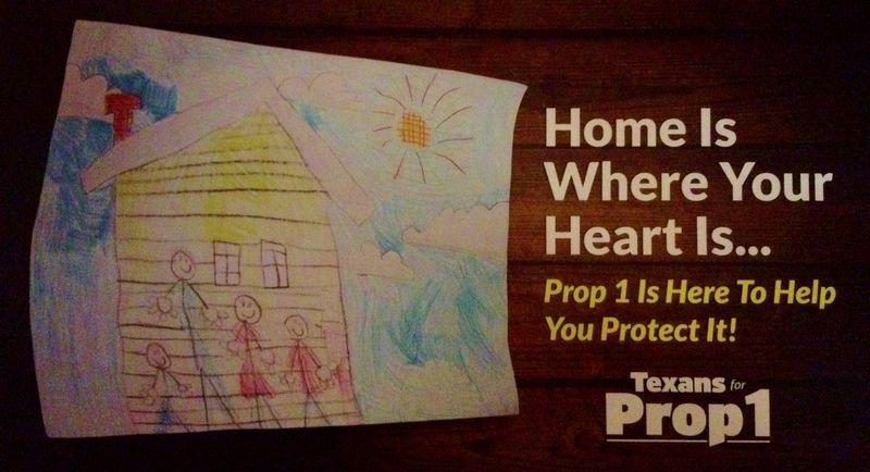 Texas homestead exemption Prop 1 Nov 3 2015