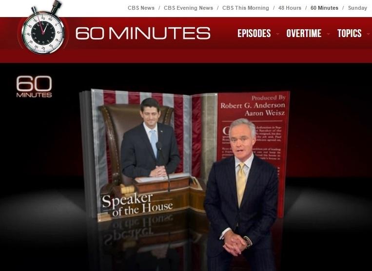 Paul Ryan interview 60 Minutes Nov 15 2015