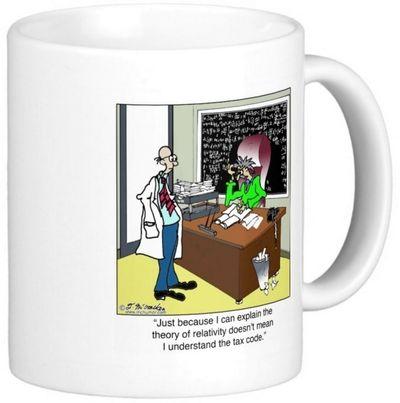 Theory of relativity mug right handle