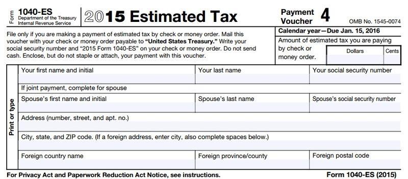 Final 2015 Estimated Tax Payment Voucher