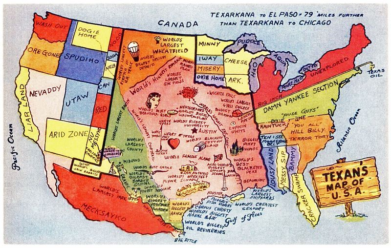 United States as seen by Texas Texans