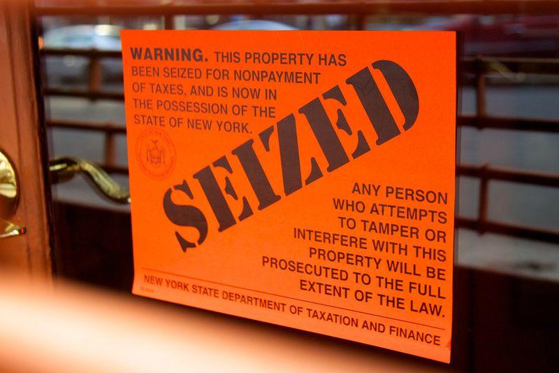New York tax seizure notice
