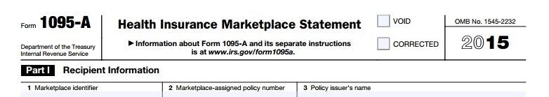 Form 1095-A health insurance marketplace statement