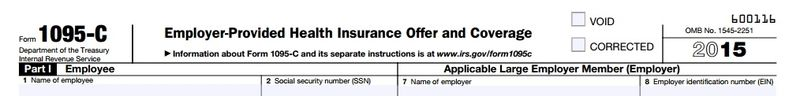 Form 1095-C employer-provided health insurance statement