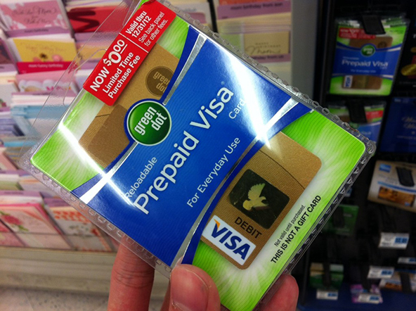 Prepaid Visa card Green Dot